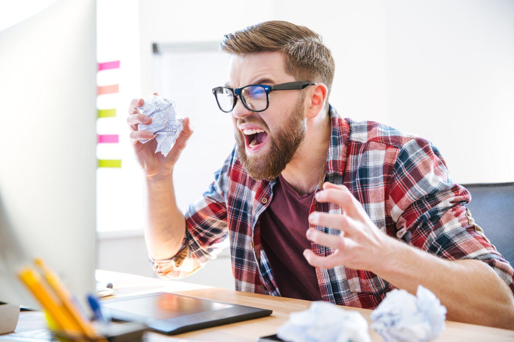 PhD student suffering writers' block