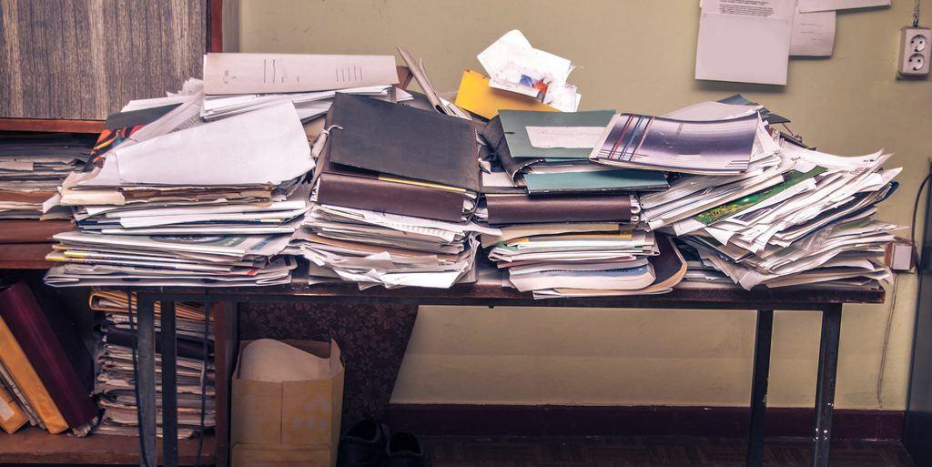 Quand le bureau croule sous les documents